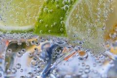 Hemlagad coctail med citrusfrukter i den glass koppen med transpare Royaltyfri Foto