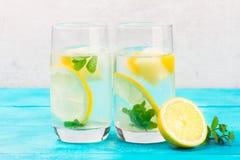 Hemlagad drink för lemonad fotografering för bildbyråer