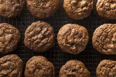 Hemlagad dubbel choklad Chip Cookies Fotografering för Bildbyråer