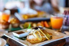Hemlagad frukost för asiatisk stil Royaltyfria Foton