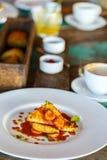 Hemlagad frukost för asiatisk stil Arkivbild