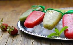 Hemlagad fruktglass Arkivbild