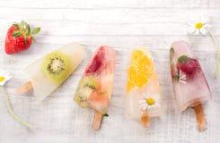 Hemlagad fruktisglasspinne Royaltyfri Fotografi