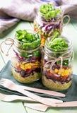Hemlagad grönsaksallad Royaltyfria Bilder