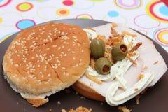 hemlagad hamburgare Royaltyfri Foto