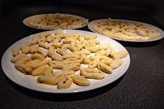 Hemlagad italiensk pastagnocchisardi royaltyfria bilder
