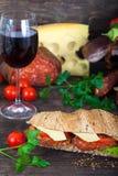 Hemlagad italiensk undersmörgås Arkivfoto
