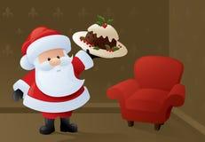 Hemlagad jultomten stock illustrationer