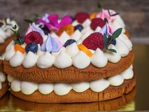 Hemlagad kaka i form av nummer arton Royaltyfria Foton