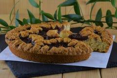 Hemlagad kaka med bärdriftstopp Fotografering för Bildbyråer