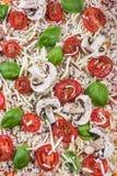 Hemlagad klassisk margheritapizza Royaltyfria Bilder