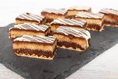 Hemlagad kokoskaka för söt choklad royaltyfri foto