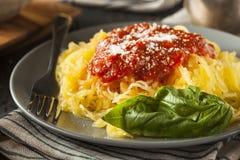 Hemlagad lagad mat pasta för spagettisquash Fotografering för Bildbyråer