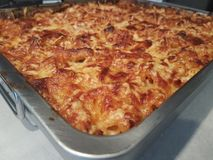 Hemlagad Lasagne Arkivfoto