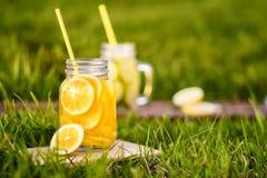 hemlagad lemonade royaltyfria bilder