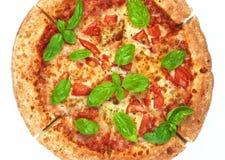 hemlagad margheritapizza Fotografering för Bildbyråer