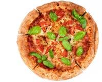 hemlagad margheritapizza Arkivbild