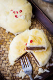 hemlagad moon för cake Arkivbild