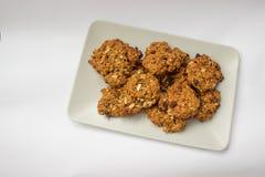 hemlagad oatmeal för kakor Arkivbilder