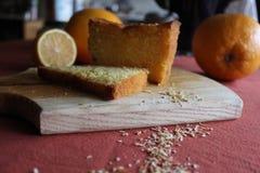 Hemlagad orange kaka Arkivfoto