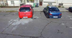 Hemlagad parkering i den bulgariska Pomorien arkivfoto