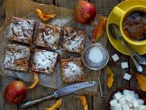 hemlagad pie för äpple Arkivfoto