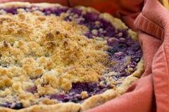 hemlagad pie för blåbär Arkivbilder