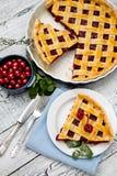 hemlagad pie för Cherry arkivfoto
