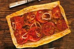 Hemlagad pizza Arkivfoton