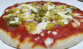 hemlagad pizza Royaltyfria Bilder