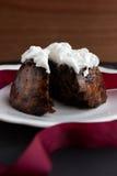 hemlagad pudding för jul Arkivfoton