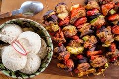 Hemlagad rumänsk mat grillade steknålar Royaltyfri Foto