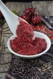Hemlagad sambal med roselle Royaltyfri Bild