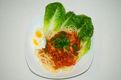 hemlagad spagetti arkivbilder