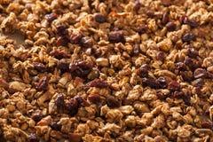 Hemlagad sund granola på täckningpappersbakgrund Royaltyfri Fotografi