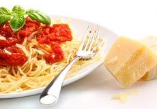 hemlagad tomat för nudelsåsspagetti Arkivfoton