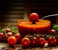 Hemlagad tomatsås Arkivbild