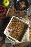 Hemlagad tranbärApple skomakare Crumble royaltyfria bilder