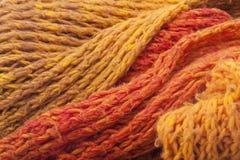 Hemlagad ullscarf Arkivbild