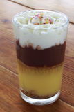 Hemlagad vaniljsås med kräm och choklad Royaltyfria Foton