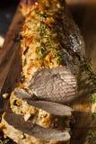 Hemlagad varm grisköttfläskkarré royaltyfri foto