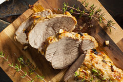 Hemlagad varm grisköttfläskkarré Arkivfoto
