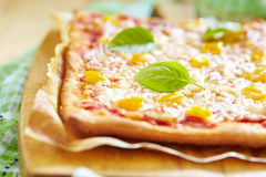 Hemlagad vegetarisk Pizza Arkivbild