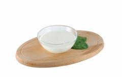 hemlagad yoghurt Arkivbilder