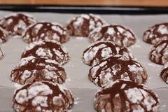 Hemlagade bakade chokladkakor Royaltyfri Foto