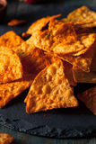 Hemlagade Chili Lime Tortilla Chips Royaltyfri Foto