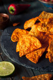 Hemlagade Chili Lime Tortilla Chips Arkivfoto