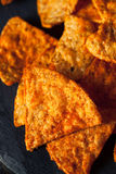 Hemlagade Chili Lime Tortilla Chips Royaltyfria Foton