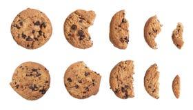 Hemlagade choklade kakor som isoleras på vit bakgrund royaltyfri fotografi