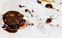 hemlagade chokladkakor Arkivbilder